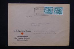 FRANCE / ALLEMAGNE - Enveloppe Croix Rouge De Freiburg En 1948 , Affranchissement En Paire - L 21973 - French Zone