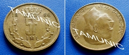 LUXEMBOURG 5 Francs 1986 JEAN GRAND-DUC - Luxembourg