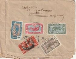 LETTRE BRAZZAVILLE (Congo) Pour PARIS Et Ré-expédiée Aff. 2 Semeuses - 1906-38 Semeuse Camée