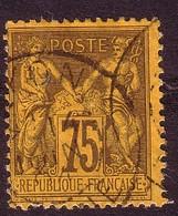 1890 – N°99 Oblitéré - 75 C. Violet S/orange - SAGE TYPE II - 1876-1898 Sage (Type II)