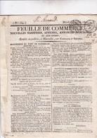 MARSEILLE / 5 JUILLET 1825 / FEUILLE DE COMMERCE / MOUVEMENT DU PORT - Documents Historiques