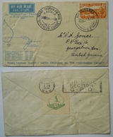New Zealand 1934  Air-mail Trans-Tasman Cover From Whangarei-Sydney-British Guyana - Poste Aérienne