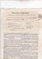 MARSEILLE /  26 MARS 1825 / FEUILLE DE COMMERCE / NOUVELLES MARITIMES / INSERTION JUDICIAIRE - Documents Historiques
