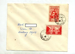 Lettre Cachet Lestrem Sur Chomeur Outremer - Postmark Collection (Covers)