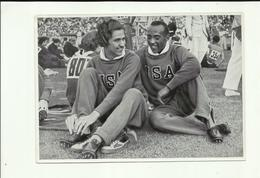 **1 X   Chromo       **JESSE  OWENS & HELEN STEPHENS   ** GOLD MEDAL - OLYPIA 1936 - Jeux Olympiques