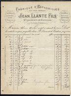 """FR - Fabrique D'Espadrilles """"Jean Llante Fils St Laurent De Cerdans"""" Spécialité De Sandales Dites Trépointe - B/TB - - 1800 – 1899"""