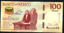 MEXICO P130  100 PESOS  2016 Serie AX  UNC. ! - Mexico