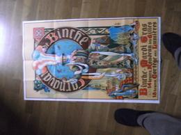 """BINCHE - Affiche Rectangulaire De 1m X 0.6m  Pour Le Carnaval Et Son Mardi Gras -Edition """"EST-OUEST""""  66 Rue St Bernard - Affiches"""