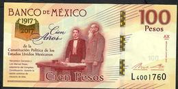 MEXICO P130  100 PESOS  2016 Serie AX  UNC. ! - Mexique