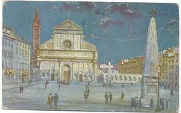W939 Firenze - Piazza E Chiesa Di Santa Maria Novella - Illustrazione Illustration / Viaggiata 1931 - Firenze