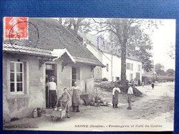 25 ,saone ,la Fromagerie Et Le Café Du Centre En 1913 - France
