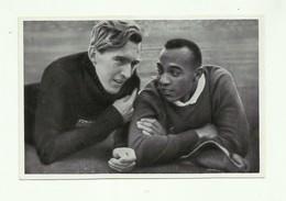**1 X   Chromo       **JESSE  OWENS & LUZ LONG   **  VERSPRINGEN -GOLD MEDAL - OLYPIA 1936 - Jeux Olympiques