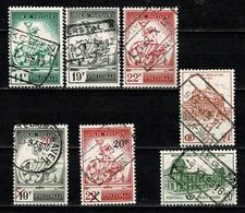 België/Belgique 1957/62 OBP/COB  TR 361/63, 364/65, 366, 367 (o) Used - Chemins De Fer
