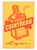 Buvard ( 21 X 13.5 Cm ) Cointreau Liqueur ( Taches ) - Buvards, Protège-cahiers Illustrés