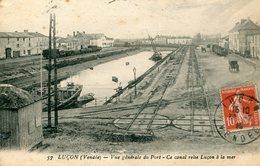 85 - LUÇON - Vue Générale Du Port. Ce Canal Relie Luçon à La Mer - Lucon