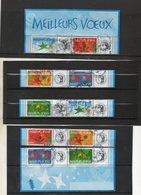 FRANCE   10 Timbres De Feuillet  0,50 €    2004    Y&T: 3722A à  3726A Vignette Du Haut Détachée Oblitérés - Used Stamps