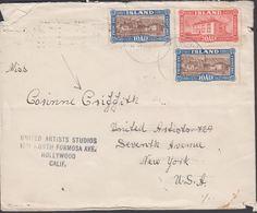 1925. Views And Buildings.  2 X 10 Aur + 20 Aur ISAFJORDUR 24. 9. 1928.  40 Aur Rec T... (Michel 116) - JF310133 - 1918-1944 Administration Autonome