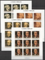 ZZ085 IMPERFORATE 2004 S.TOME E PRINCIPE ART MUSIC GREAT COMPOSERS !!! 9SET MNH - Musique