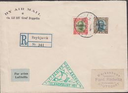 1931. LUFTSCHIFF GRAF ZEPPELIN ISLANDSFAHRT 1931. 30 AUR + 2 KR. CHRISTIAN X REYKJAVI... () - JF310134 - 1918-1944 Administration Autonome