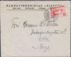 1939. New York World Fair. 20 Aur Red (Defekt) REYKJAVIK 20 IX. 39 To Oslo, Norge. KL... (Michel 204) - JF310153 - 1918-1944 Administration Autonome