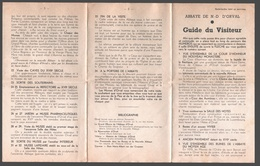 Abbaye De N.-D. D'Orval - Folder / Dépliant - Guide Du Visiteur - Toeristische Brochures