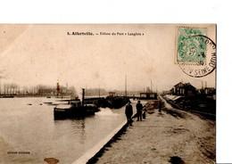 """9. Alfortville. - Ecluse Du Port """"Langlois"""" (port à L'""""Anglais). Edition Couture. Circulé 1906. Etat Correct. Voir SCAN - Alfortville"""