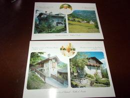 B714  2 Cartoline Combes D'introd Residenza Estiva Del Papa - Italia