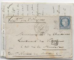 """1872 - LETTRE De PARIS => NAVIRE De GUERRE """"LA MINERVE"""" DISION NAVALE Des ANTILLES Par ST NAZAIRE - Postmark Collection (Covers)"""