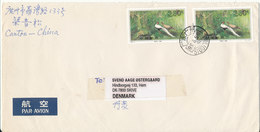 P. R. Of China Cover Sent To Denmark 5-8-1995 Topic Stamps BIRDS - 1949 - ... People's Republic