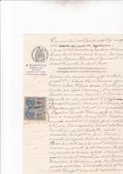 MARSEILLE / SAINT LOUP / SIGNIFICATION HUISSIER 1899  / PAIRE TIMBRE COPIE - Fiscaux