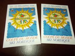 B714  2 Cartoline Brusson Coppa Del Mondo Sci Nordico - Italia