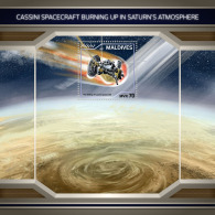 MALDIVES 2018 MNH** Cassini In Saturn Atmosphere Raumfahrt Space Espace S/S - OFFICIAL ISSUE - DH1811 - Astronomie