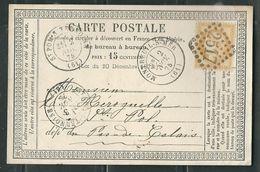 FRANCE 1875 N° 55   S/CP Obl.GC 2517 Montreuil S/Mer - 1871-1875 Cérès