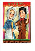 Cpm Brodée - Marionnette - GUIGNOL MADELON - AU BON PAYS LYONNAIS - Les Editions Vacances Paris - Brodées