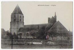 Cpa Bon Etat , Mézilles , L'église  ,  Carte Rare - Other Municipalities