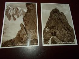 B714   2 Cartoline Scalatori Dente Del Gigante Non Viaggiata - Italia
