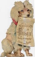 Animal Humanisé Embossé 10.5cm / Grand Caniche Assis Pour Pub Chocolat POULAIN - Animaux