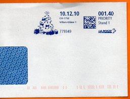 VILLARS GLANE    2010 Lettre Entière 110x220 N° MM 963 - Marcophilie (Lettres)