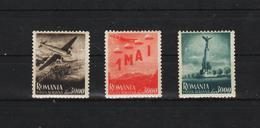 1947 -  COMM. DU 1 MAI   MI No1062/1064  MNH - 1918-1948 Ferdinand, Carol II. & Mihai I.