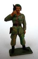 SOLDAT FIGURINE FIG STARLUX 1968 OFFICIER RADIO BERET VERT 5368  ETAT MAJOR (2) - Starlux