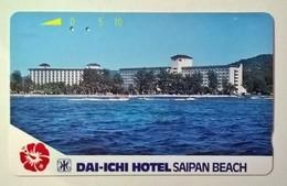 SAIPAN___Dai-Ichi-Hotel Saipan Beach___Tamura Magnetic Card___RRR - Mariannes