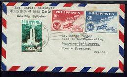PHILIPPINES - Affranchissement Recto-verso Sur Enveloppe De Cebu City à Destination De Bagnères De Bigorre - B/TB - - Philippines