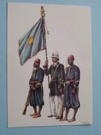 Geschiedenis Van De WEERMACHT Van KONGO / Officier En Gevolg ( James Thiriar  Aquarelle ) Anno 19?? ( Voir Photo ) ! - Uniformen