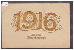 BONNE ANNEE - MILLESIME 1916 - CARTE EN RELIEF - PRÄGE KARTE - TB - Nouvel An