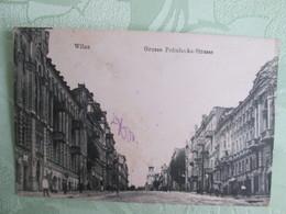 Wilna . Grosse Pohulanka Strasse . Cachet Militaire - Lithuania
