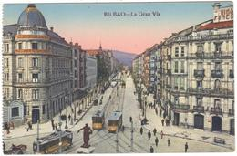 POSTAL   BILBAO  -PAIS VASCO  - LA GRAN VIA - Espagne