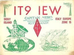 "2493 "" IT9 IEW-CAPITAN NEMO-SSICILY ISLAND -ITALY EUROPE ZONE 15 "" CART.ORIG.  SPED. - Radio Amatoriale"