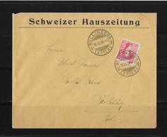 1908 HEIMAT TESSIN → Brief Schw.Hauszeitung Bellinzona Nach Kilchberg - Suisse