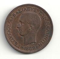 Grèce 10 Lepta 1869 BB Superbe - Grecia