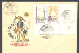 75823- NATIONAL PHILATELIC EXHIBITION, POSTCHASE, COACHMAN, STAMPS AND SPECIAL POSTMARKS ON COVER, 1966, ROMANIA - 1948-.... Républiques